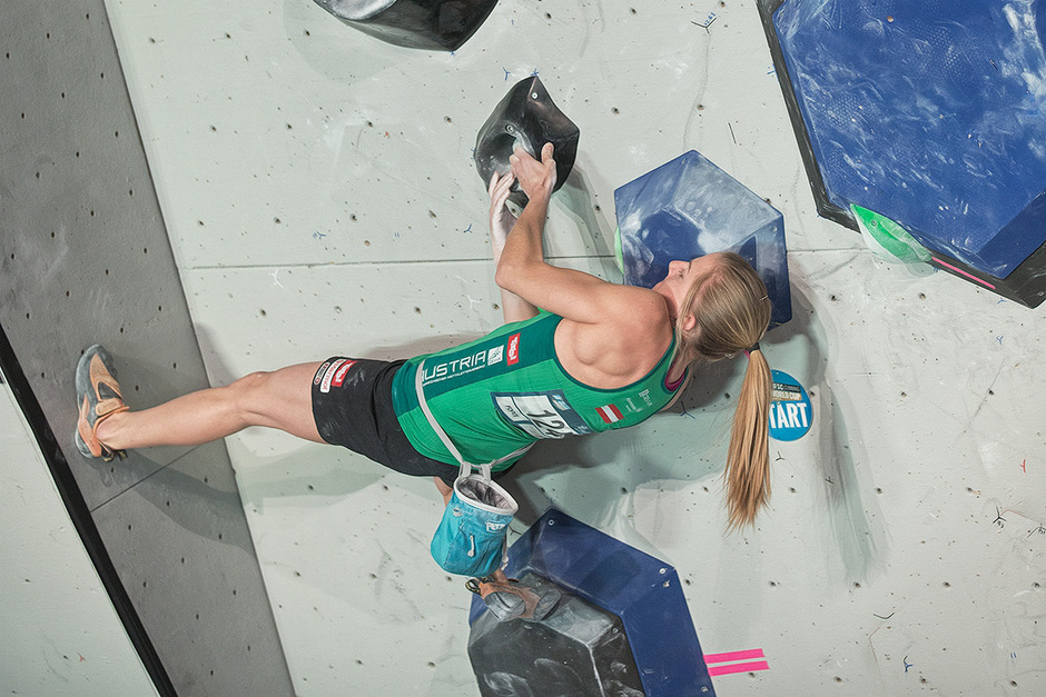 Bouldert um Medaillen bei den hochkarätig besetzten World Games in Breslau: Katharina Saurwein.