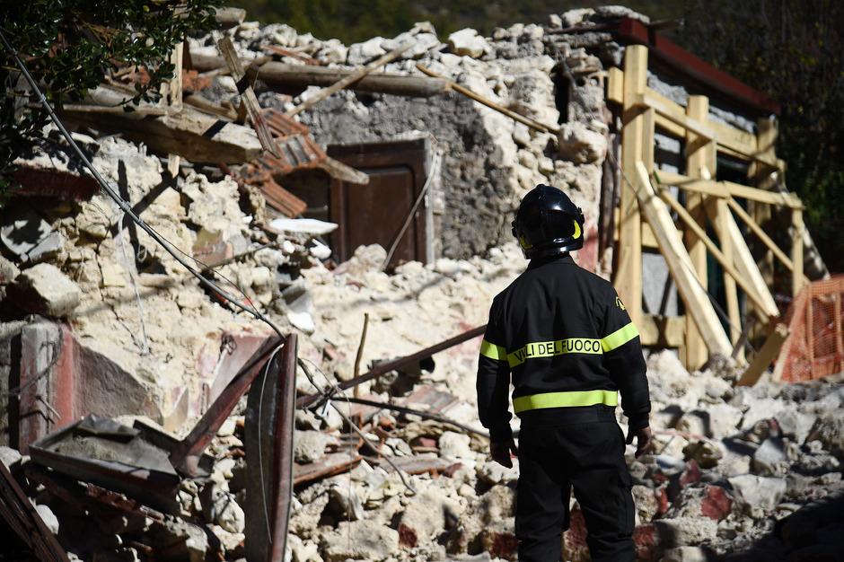 Auch die Ortschaft San Pellegrino in Mittelitalien wurde bei dem schweren Beben vor rund einem Jahr stark in Mitleidenschaft gezogen.
