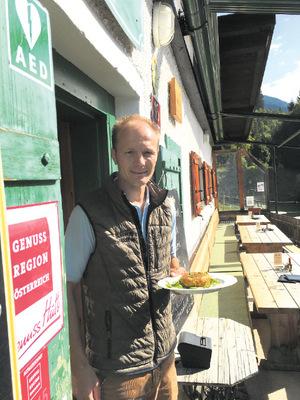 Hannes Anzengruber von der Arzler Alm in Innsbruck.