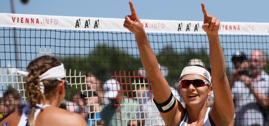 Julia Grossner und Nadja Glenzke siegten im EM-Finale gegen die Tschechinnen Kolocova/Kvapilova.