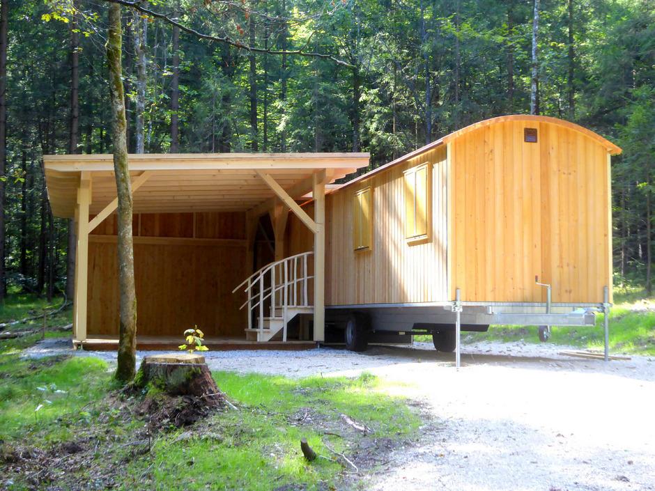 Im Gemeindewald im Breitenbacher Ortsteil First wurde ein Waldkindergarten für 17 Kinder geschaffen.