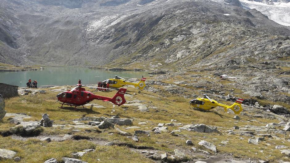 Mehrere Hubschrauber standen zur Bergung im Einsatz.