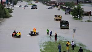 Noch immer werden Leute in Houston evakuiert.