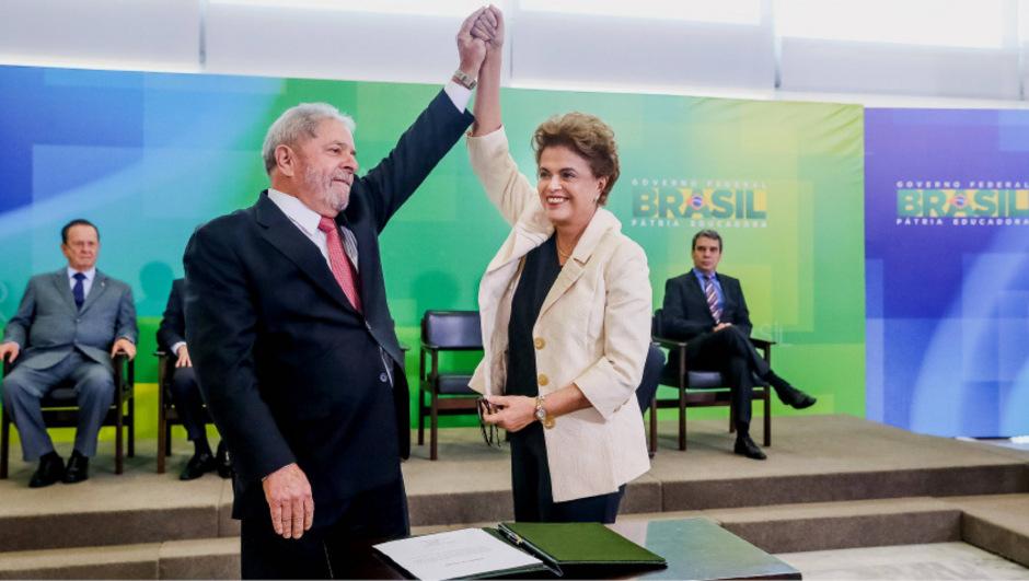 """Präsidentin Dilma Roussef und Ex-Präsident Luiz Inacio Lula da Silva sind beide wegen des Verdachts der Bildung einer """"kriminellen Vereinigung"""" angeklagt."""