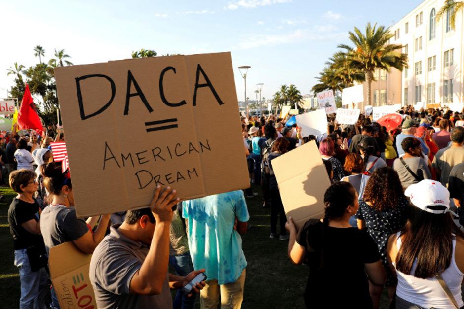 Gegen die Entscheidung des US-Präsidenten, das DACA-Programm abzuschaffen, gab es landesweit Proteste.