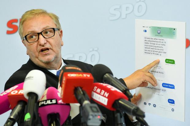 SPÖ-Bundesgeschäftsführer Christoph Matznetter bei einer Pressekonferenz.