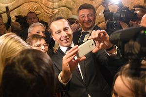 Kern auf Wahlkampftour in der Steiermark.