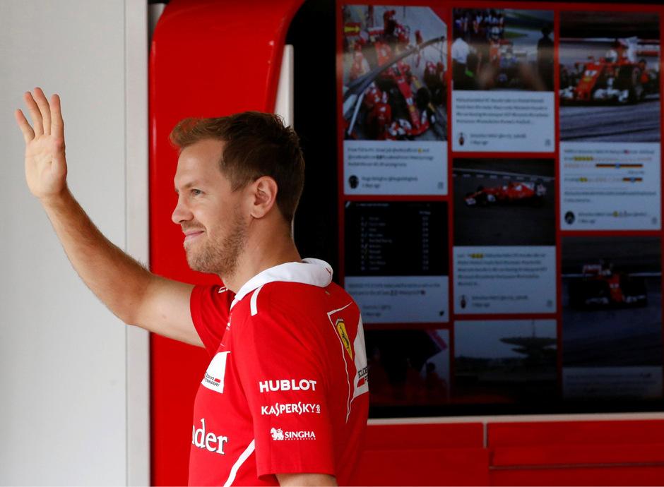 Sebastian Vettel verabschiedete sich mit einem Defekt und einer Verwarnung aus Suzuka.