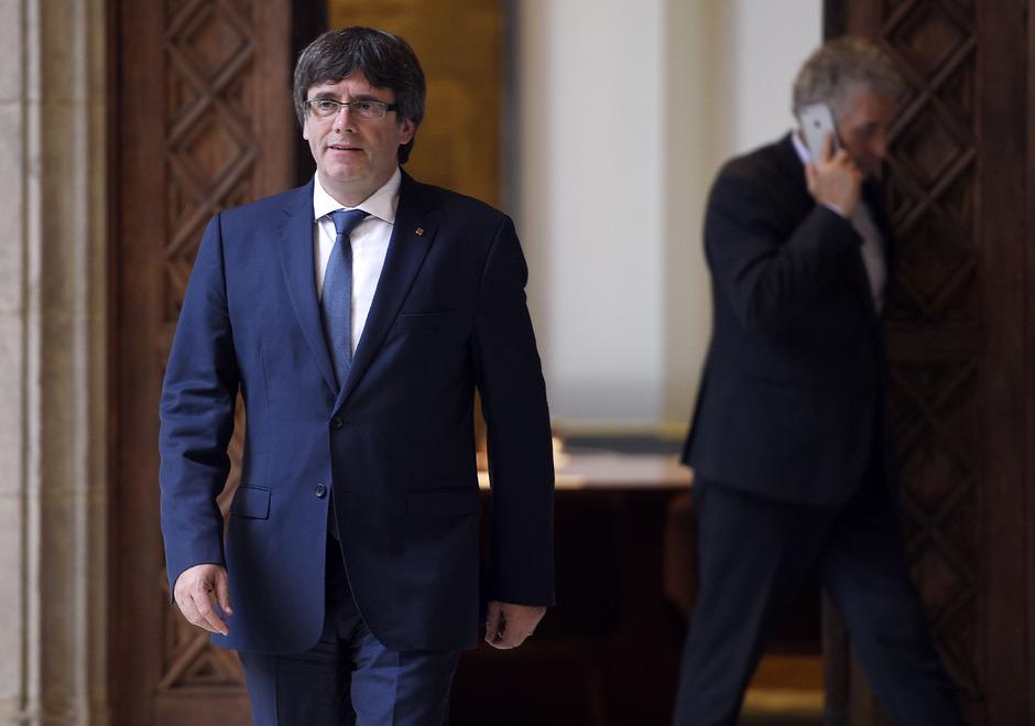 Kataloniens  Regierungschef Carles Puigdemont.