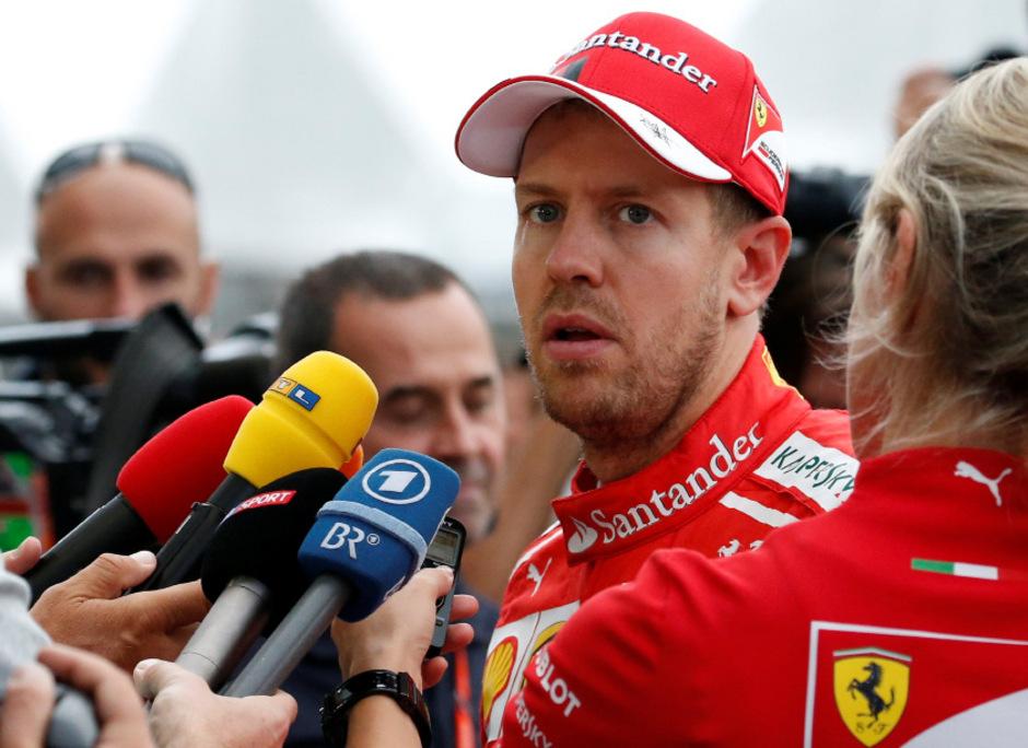 Glücklich sieht anders aus: Sebastian Vettel.