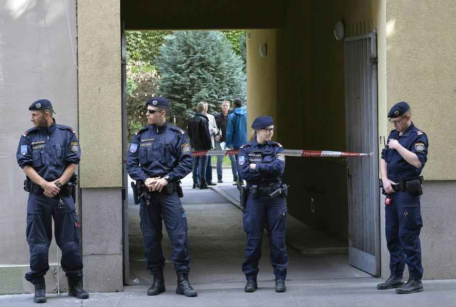 Der Tatort war ein Innenhof in Wien-Favoriten.