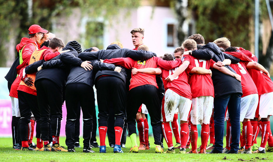 Österreichs U19-Team feierte den Aufstieg in die nächste Quali-Runde.
