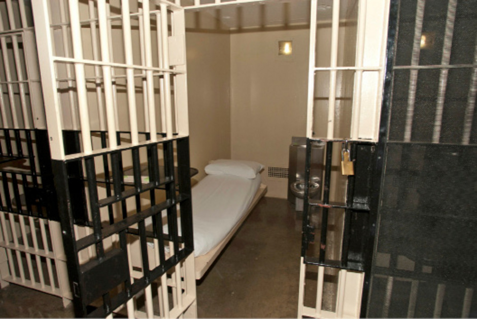 Eine Zelle im Todestrakt der Haftanstalt Huntsville, Texas.