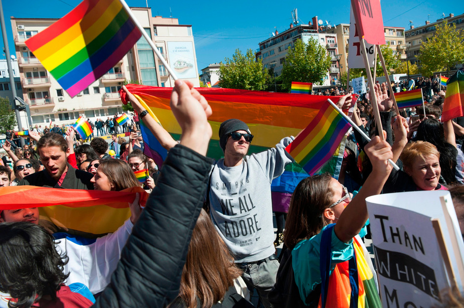 Die Gay Pride Parade in Pristina war die erste im Kosovo.