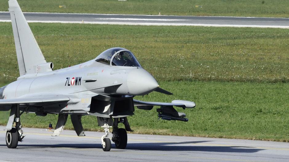 Ein Eurofighter auf einem Archivbild.