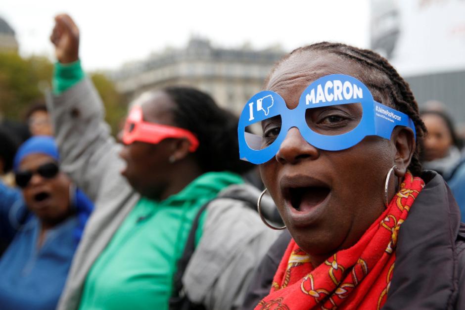 Zehntausende Beschäftigte des öffentlichen Dienstes gingen am Dienstag in Frankreich auf die Straße.