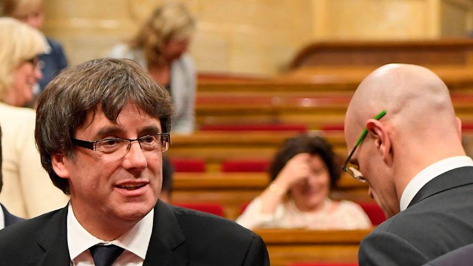 Kataloniens Regierungschefs Carles Puigdemont.