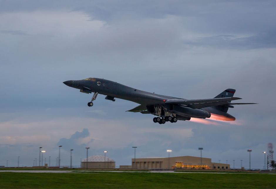 Die US-Airforce wurde von Südkorea und Japan bei dem Flugmanöver unterstützt.