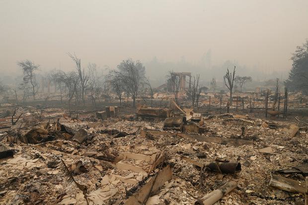 Das Feuer hat riesige Flächen zerstört.