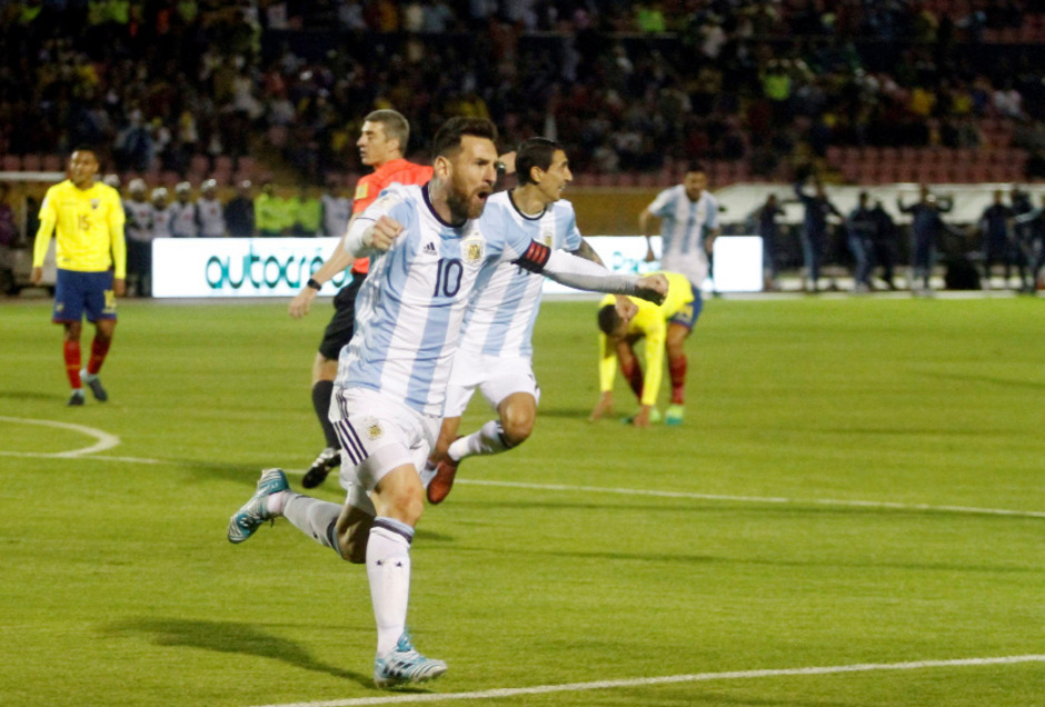 Messi rettete Argentinien das WM-Ticket.