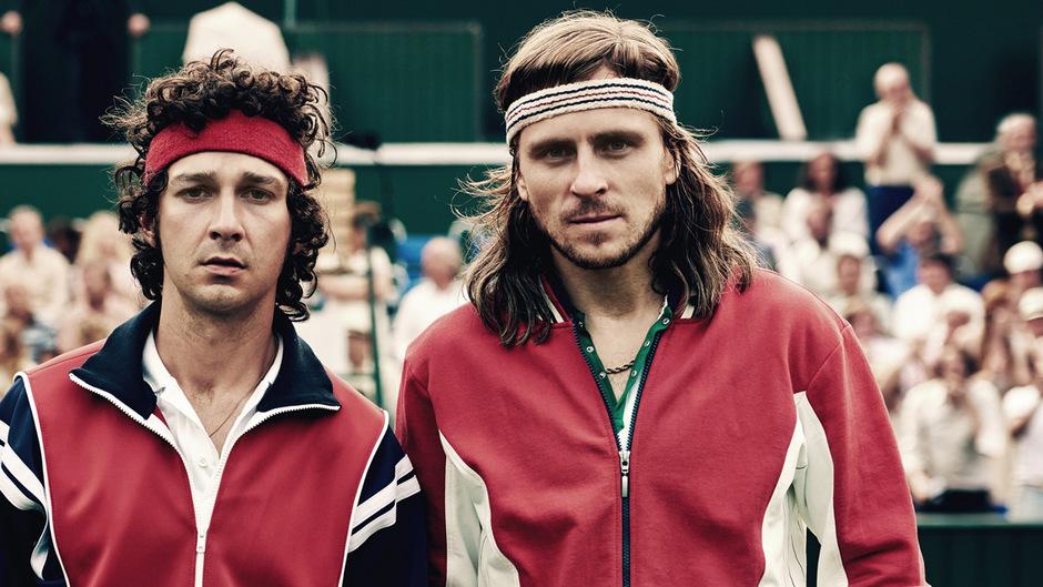 Zwei Zwangsneurotiker, die Sportgeschichte schrieben: Shia LaBeouf als John McEnroe und Sverrir Gudnason als Björn Borg.