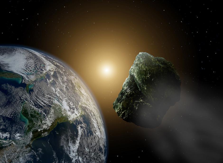 Ein Asteroid in der Nähe der Erde.