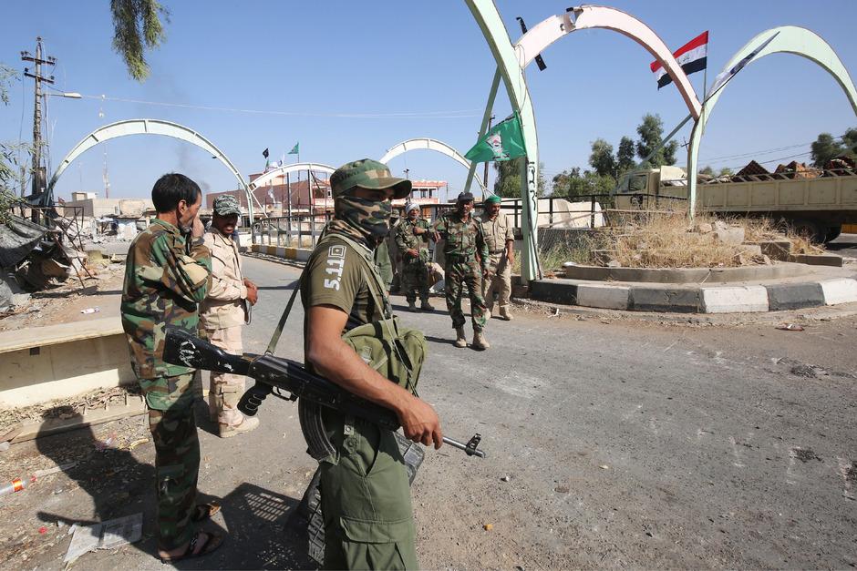 Sicherheitskräfte im Irak.