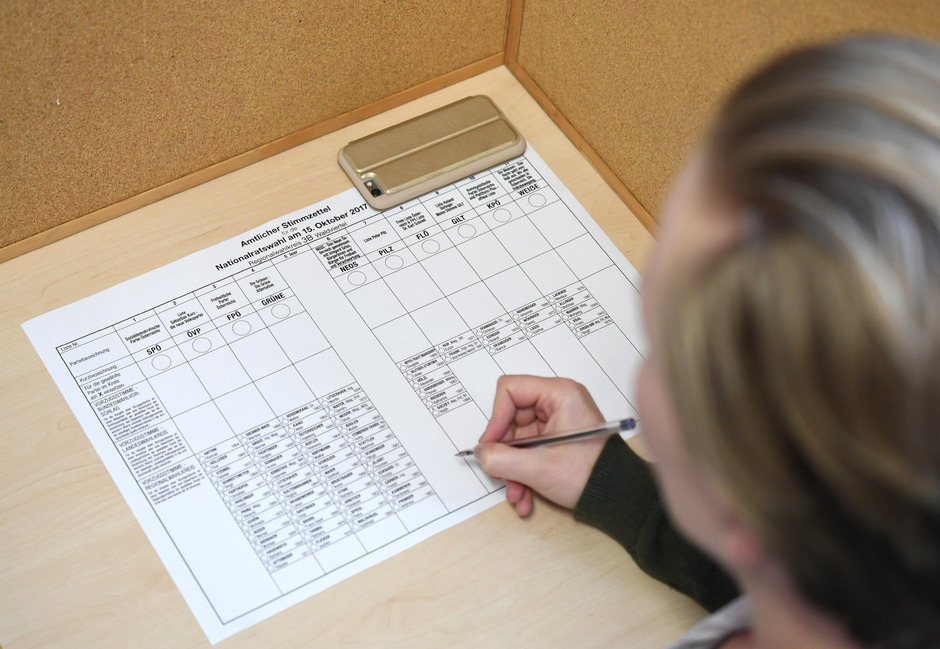 """""""Mustergültig"""" ist ein Stimmzettel mit zwei Kreuzen und zwei mit Namen oder Nummer eingetragenen Vorzugs-Kandidaten."""