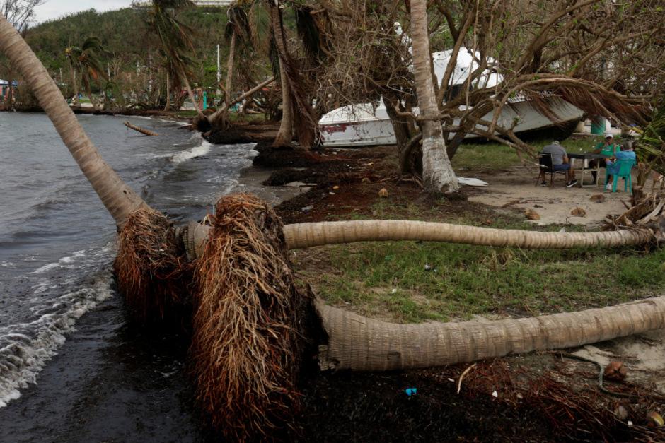 """Puerto Rico wurde von Hurrikan """"Maria"""" hart getroffen."""