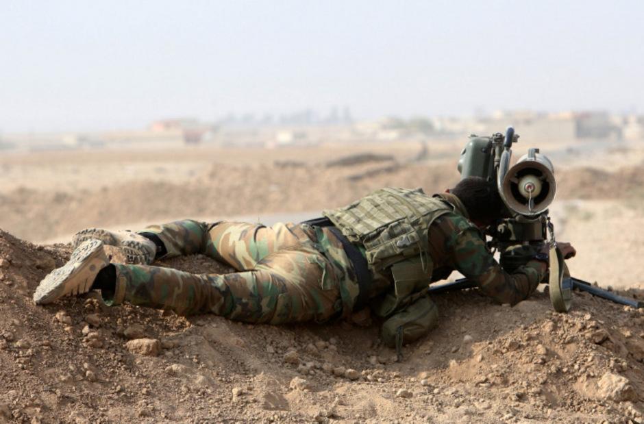 Ein Kurdischer Peshmerga-Kämpfer. (Archivaufnahme)
