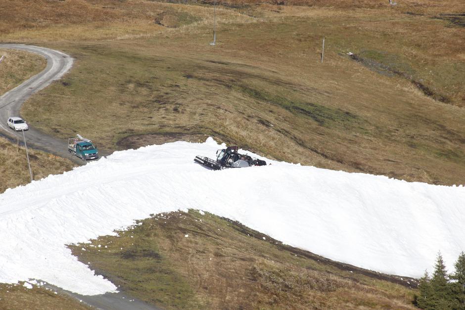 Die Schneebänder in Kitzbühel sorgten im Oktober für Aufregung.
