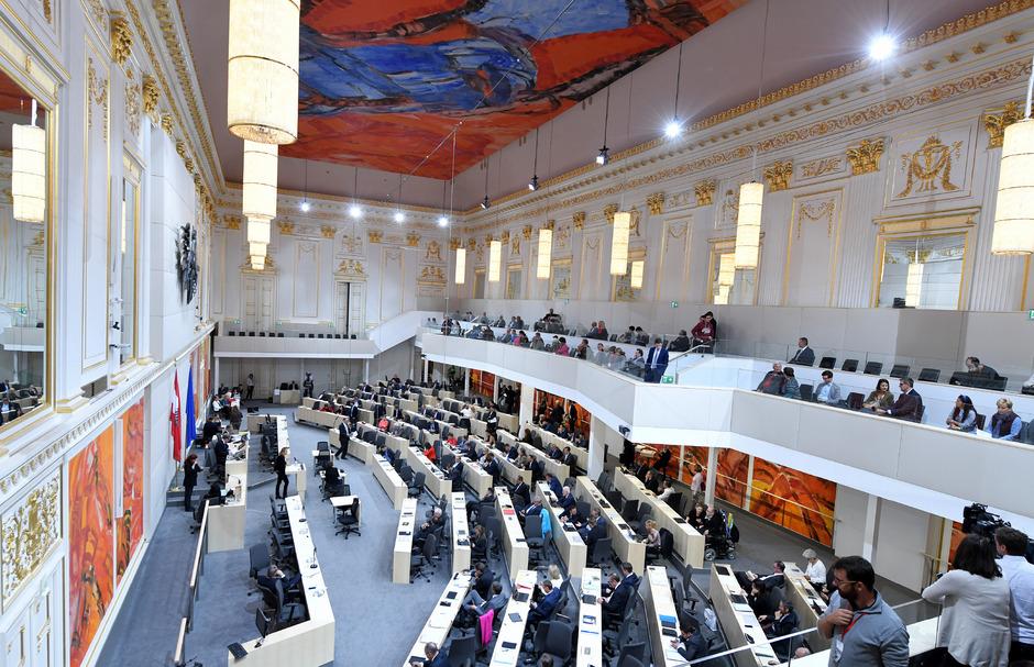 Der neue Plenarsaal des Nationalrats.