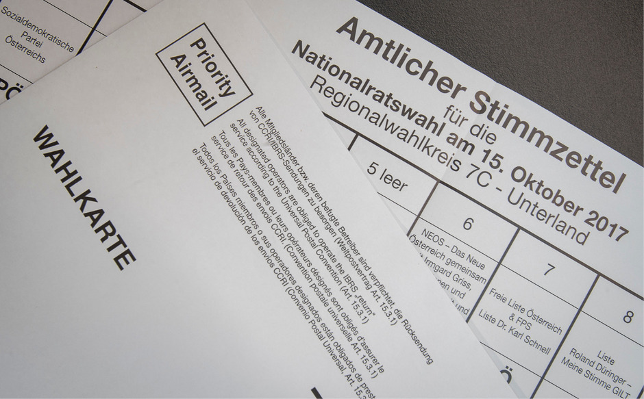 Das Interesse an der Briefwahl ist enorm angestiegen. Für die Nationalratswahl sind 780.000 Briefwähler zu erwarten.