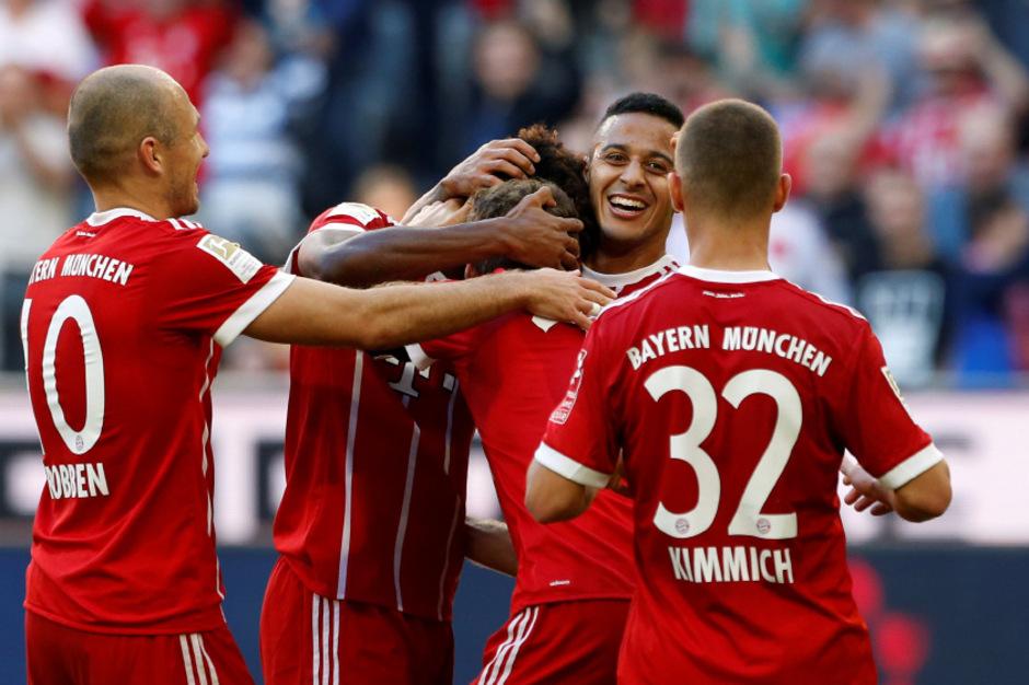 Die Bayern jubelten mit Torschütze Thiago.