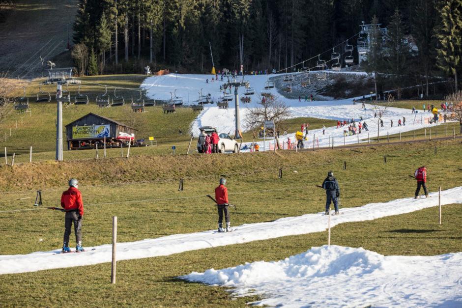 Wann wird's mal wieder richtig Winter? Die Realität im Skigebiet Wilder Kaiser am 27. Dezember.
