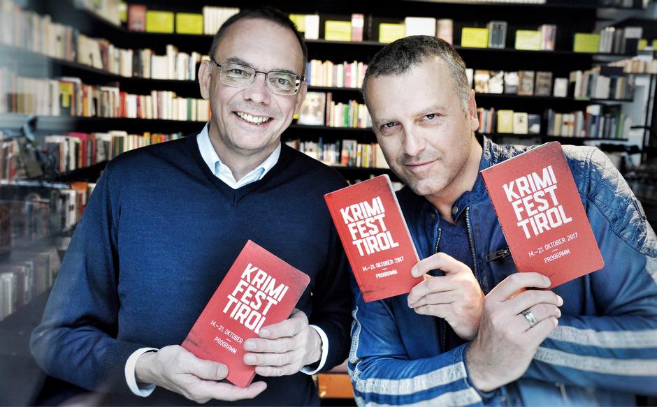 Die Initiatoren des Krimifestes:  Markus Hatzer und Bernhard Aichner.