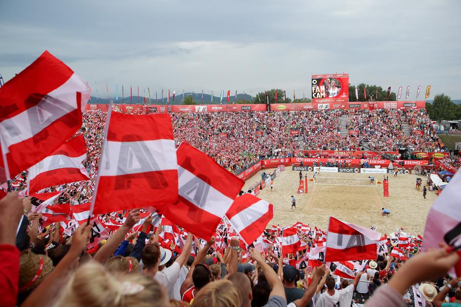 Auch 2018 wird auf der Donauinsel wieder Beachvolleyball gespielt.