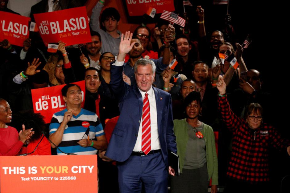 Bill de Blasio bleibt Bürgermeister in New York.