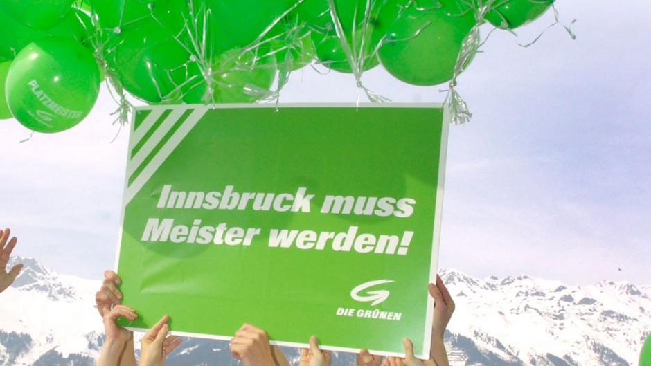 Vom Meistertitel sind Innsbrucks Grüne weit entfernt, die grünen Luftballone drohen jäh zu zerplatzen.