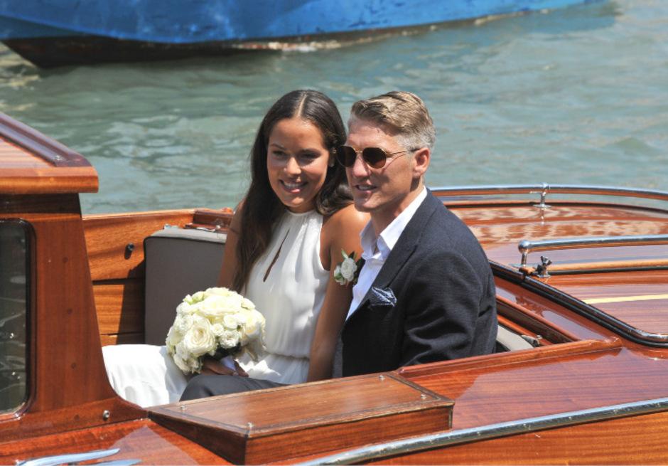 Ana Ivanovic und Bastian Schweinsteiger gaben sich 2016 öffentlichkeitswirksam in Venedig das Ja-Wort.