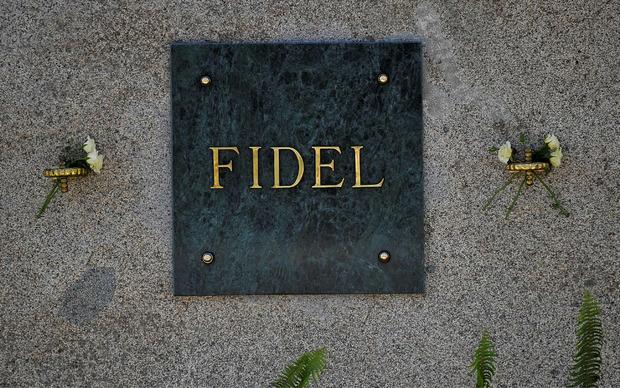 Das Grab von Fidel Castro.