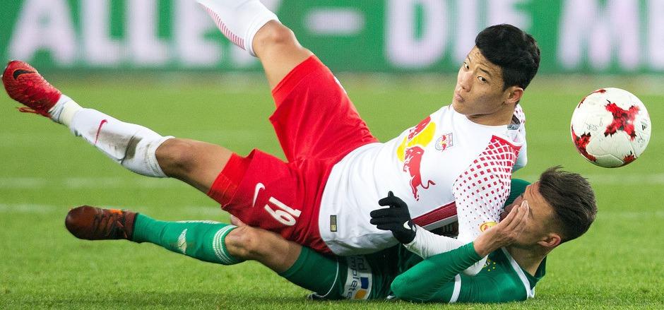 Hee Chan Hwang und Red Bull Salzburg waren im Schlager obenauf.