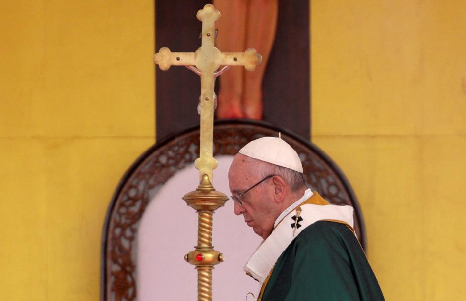 Der Papst feierte eine Messe in Myanmar.