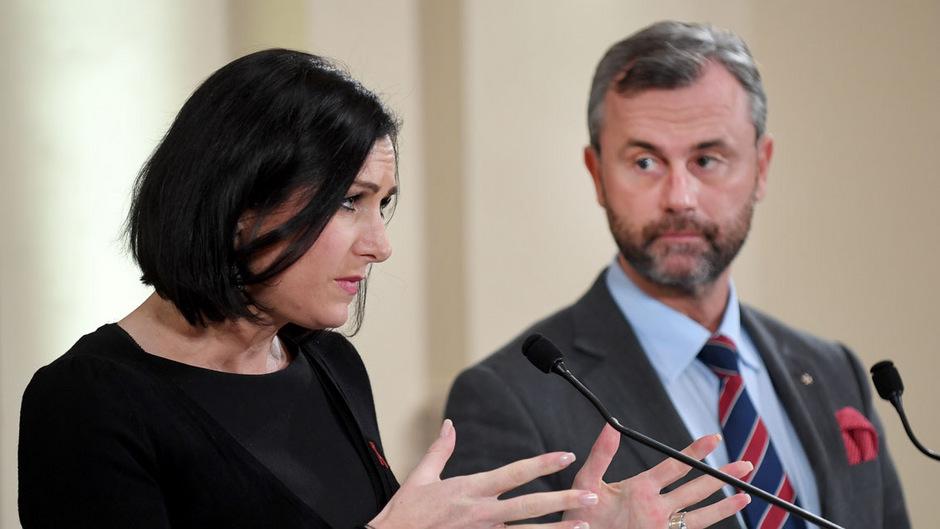 NR-Präsidentin Elisabeth Köstinger (ÖVP) und Norbert Hofer (FPÖ).
