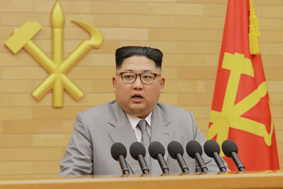 Kim Jong-un in seiner Neujahrsansprache.