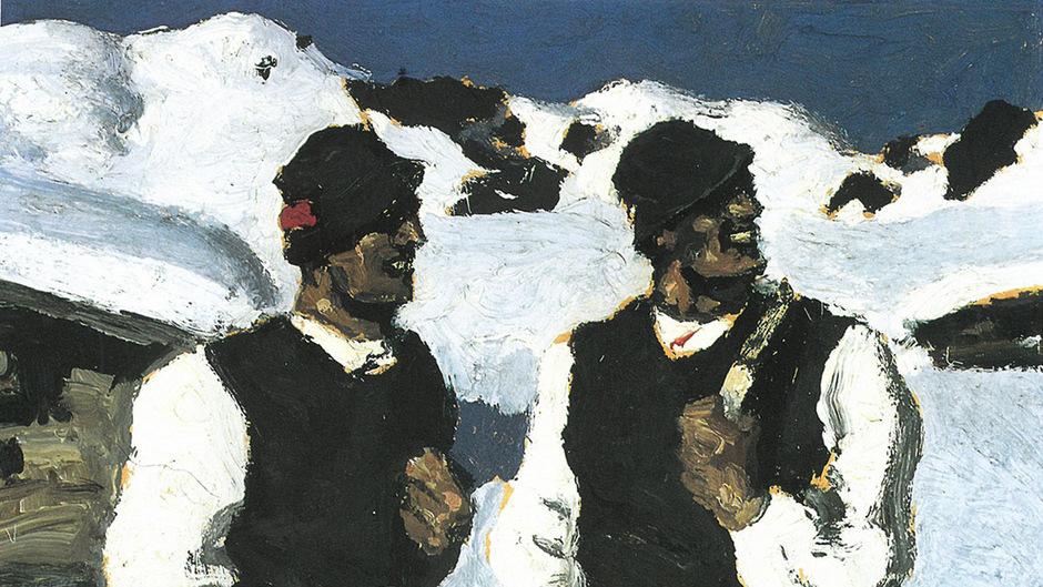 """""""Bauernsonntag"""" heißt dieses Bild von Alfons Walde aus dem Jahr 1927."""