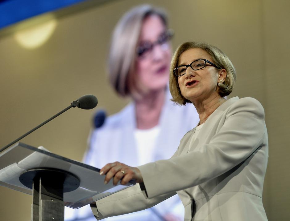 Im Match um Niederösterreich: LH Johanna Mikl-Leitner (ÖVP).