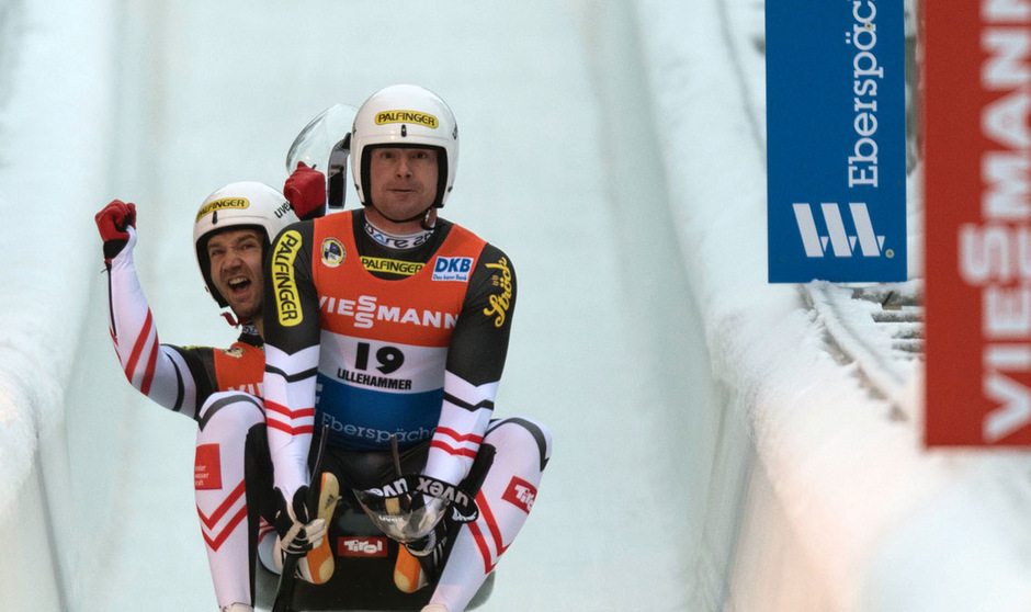 Georg Fischler und Peter Penz rodelten in Lillehammer auf Platz zwei.