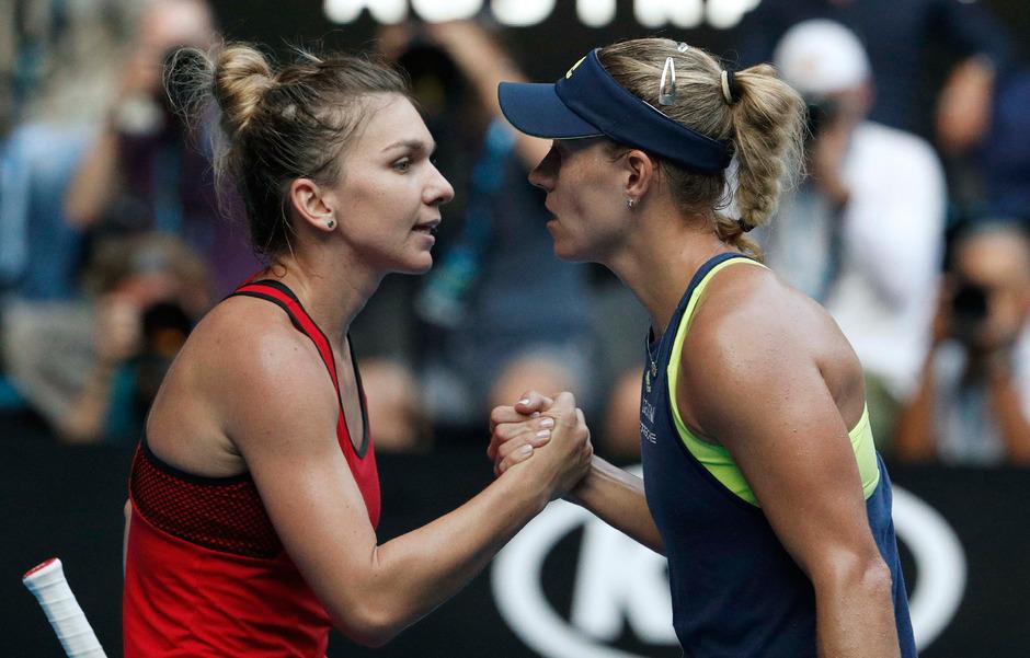 Simona Halep und Angelique Kerber lieferten sich einen harten Kampf, den die Rumänin nach 2:20 Stunden für sich entschied.