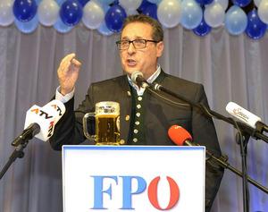 Heinz-Christian Strache (FPÖ) im Rahmen des Politischen Aschermittwochs der FPÖ.